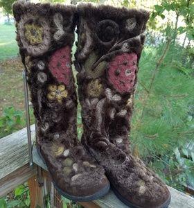Sam Edelman BoHo mukluk faux fur boots 8